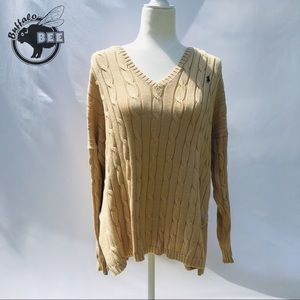 Ralph Lauren cream cable knit pima cotton sweater